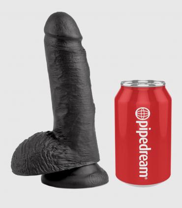 Pene King Cock 7 Super Realista 17,8 cm Negro