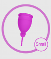 Copa Menstrual de Silicona Rosa Liebe Small