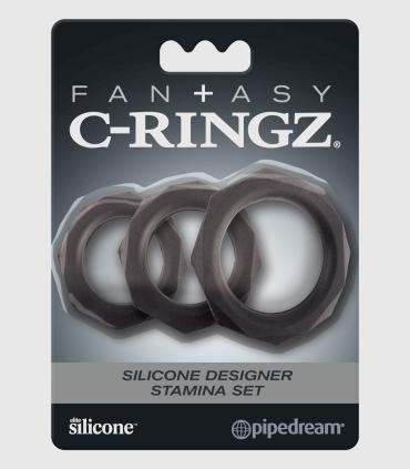 Kit Anillo C-Ringz Fantasy Designer Stamina Negro