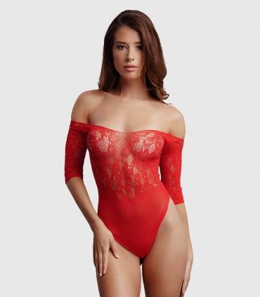 Body Diamante Rojo sin Entrepierna
