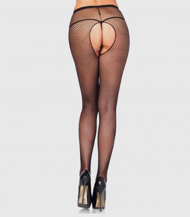 Panty de rejilla con abertura en la entrepierna leg avenue
