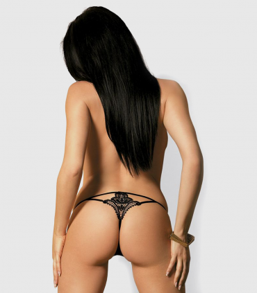 Luiza Thong Tanga Negro Obsessive