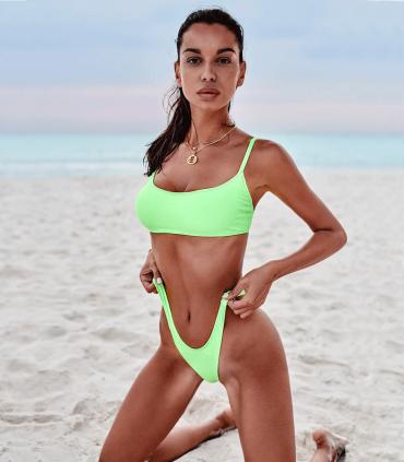 Bikini Verde Neón México Beach de Obsessive