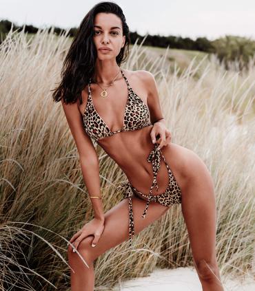 Bikini California Reversible Rosa Leopardo de Obsessive