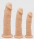 Dildo de Silicona de Doble Densidad Tres Tamaños