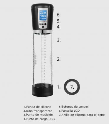 Bomba Automática Recargable con Pantalla LCD